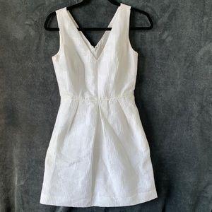 J.Crew White Dress Jacquard Dress
